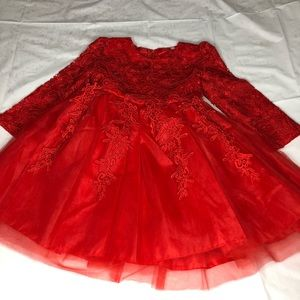 Girl red dress size 5